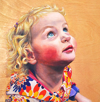 Children's portrait by Maggie Hurley
