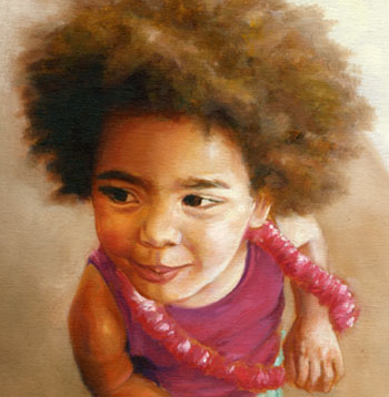 Children's portrait by Maggie Hurley of a little girl