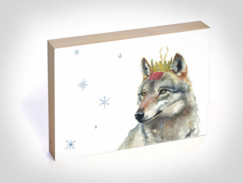 Viscountess Wolf, A Fine Art Print by Maggie Hurley on Wood