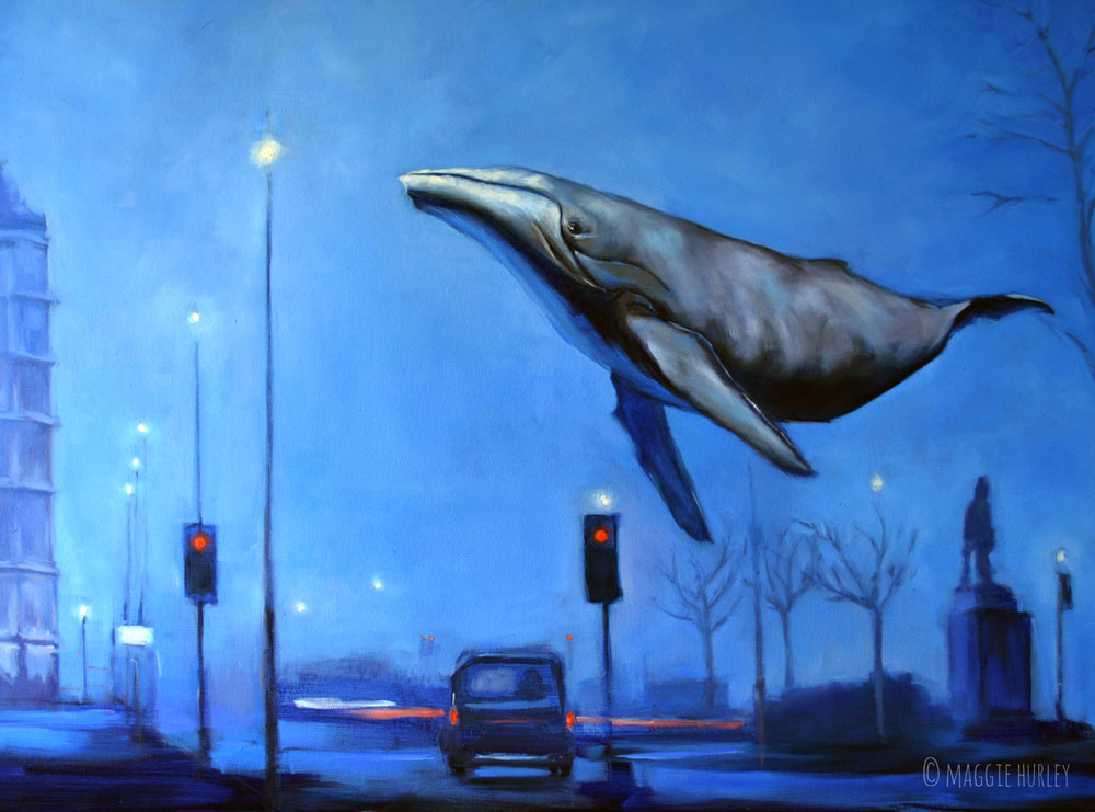 Wayward Whale painting by Maggie Hurley