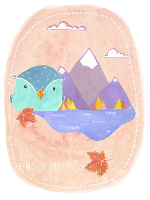 Little Bird art print by Maggie Hurley
