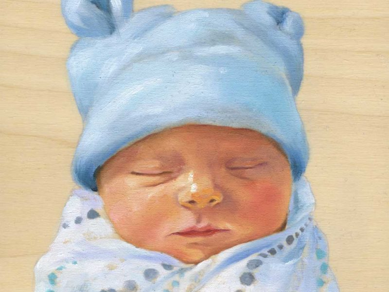 Portrait Painting – Newborn Baby Boy