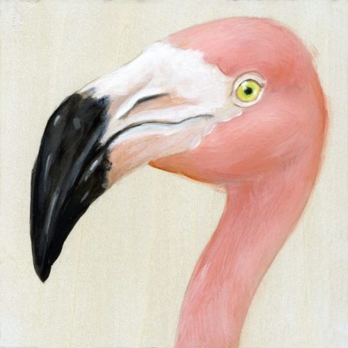 Flamingo art by maggie hurley
