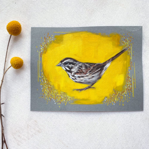 song sparrow painting