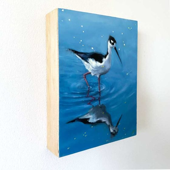 black-necked stilt bird art