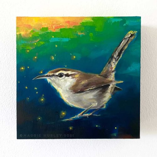 bewick's wren bird art