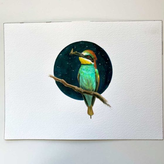 bee-eater painting