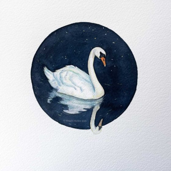 swan paintng